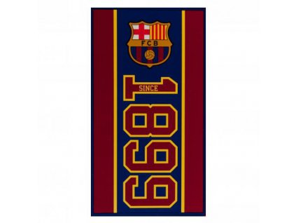 RUČNÍK OSUŠKA/BARCELONA FC  70 x 140 cm/ESTABLISHED/VÍNOVÁ