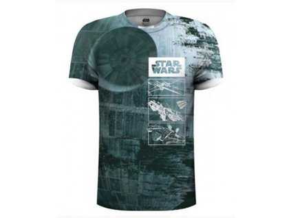 TRIČKO PÁNSKÉ/STAR WARS DEATH STAR/SUBLIMATION PRINT (M)