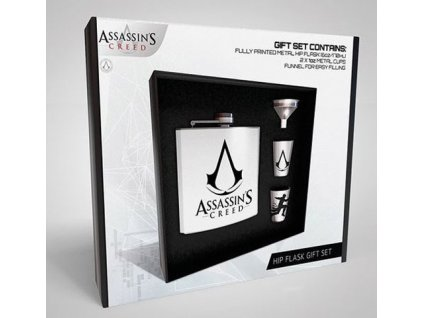 DÁRKOVÝ SET/PLASKAČKA/ŠTAMPRLE  200 ml/ASSASSINS CREED/LOGO
