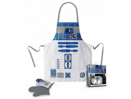 KUCHYŇSKÝ SET/STAR WARS  ZÁSTĚRA/CHŇAPKA/R2-D2/PLAST BOX