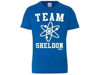 Pánské tričko The Big Bang Theory Teorie velkého třesku: Team Sheldon  modré bavlna