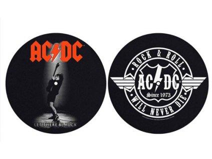 PODLOŽKA NA TALÍŘ GRAMOFONU  AC/DC/LET THERE BE ROCK