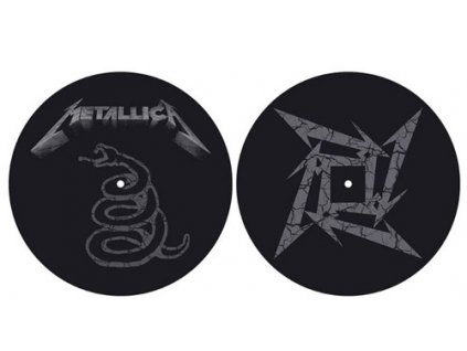 PODLOŽKA NA TALÍŘ GRAMOFONU  METALLICA/THE BLACK ALBUM
