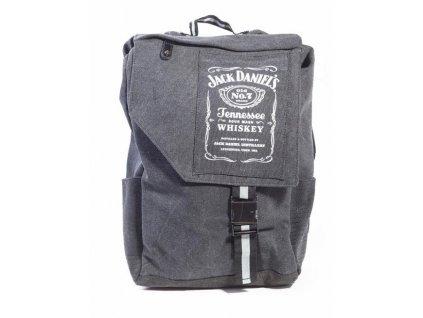 Batoh Jack Daniel's: Logo (50 x 35 x 12 cm, objem 21 litrů) šedá bavlna
