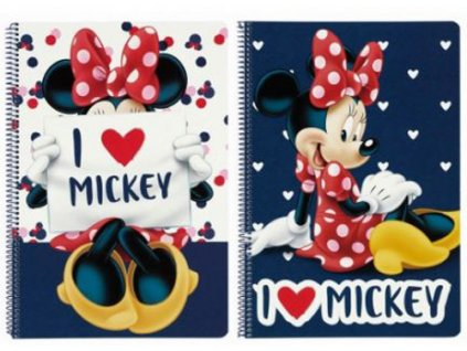 BLOK/SEŠIT A4/MINNIE MOUSE  A4/80 LISTŮ/I LOVE MICKEY/11748