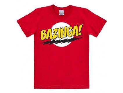 Pánské tričko Big Bang Theory|Teorie velkého třesku: Bazinga (L) červené bavlna