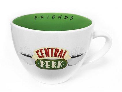 Bílý keramický cappuccino hrnek Friends|Přátelé: Central Perk (objem 650 ml)