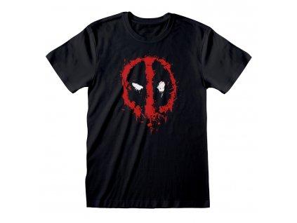 Pánské tričko Marvel|Deadpool: Splat (L) černé bavlna