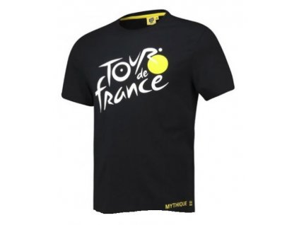 Pánské tričko Tour de France: 2019 Logo (L) černé bavlna