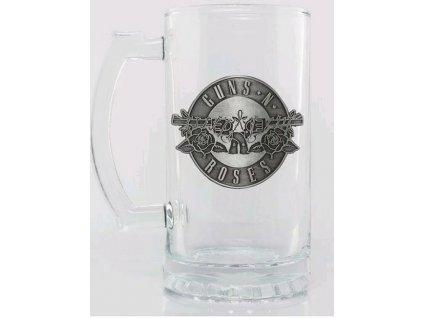 Sklenice korbel Guns'N'Roses: Kovové logo (objem 500 ml)