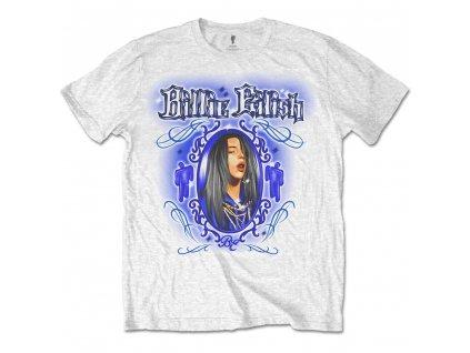 Dětské tričko Billie Eilish: Airbrush Photo (13-14 let) bílé bavlna