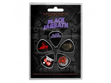 Kytarová trsátka Black Sabbath: Purple Logo set 5 kusů