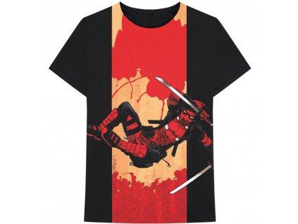 Pánské tričko Marvel: Deadpool Samurai (L) černé bavlna