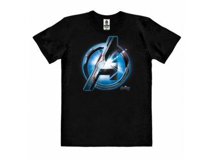 Pánské tričko Marvel|Avengers: Endgame logo (L) černé bavlna