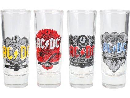 Štamprle sklenice AC/DC: Set 4 kusů (objem 50 ml)