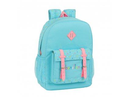 Školní batoh Benetton: Candy vzor 12075 (objem 19 litrů|32 x 43 x 14 cm) modrý polyester