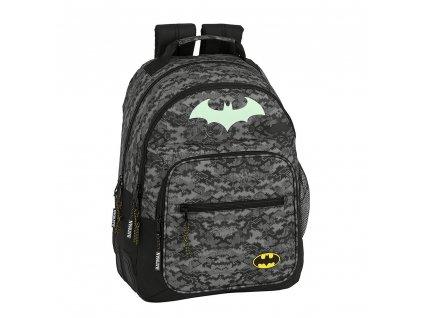 Školní batoh DC Comics|Batman: vzor 12004 (objem 20 litrů|42 x 32 x 15 cm) černý polyester