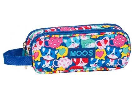 Penál na tužky Moos: Corgi vzor 12018 (21 x 6 x 8 cm) multicolor polyester