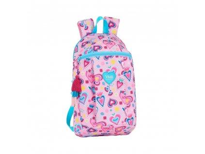 Jednoduchý batoh Vicky Martin Berrocal: vzor 12036 (objem 8,5 litrů|22 x 39 x 10 cm) růžový polyester