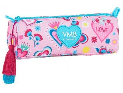 Penál na tužky vm Berrocal: vzor 12036 (21 x 7 x 8 cm) růžový polyester
