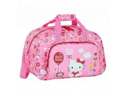 Sportovní taška Hello Kitty: Balloon vzor 12016 (22 litrů 40 x 23 x 24 cm) růžový polyester