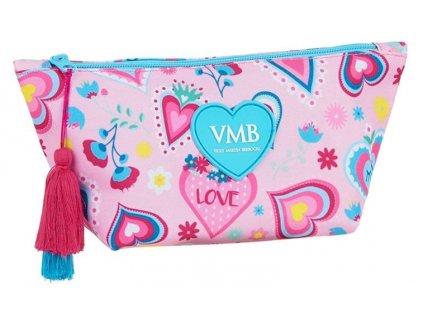 Kosmetická taška Vicky Martin Berrocal: vzor 12036 (objem 2,2 litrů|23 x 12 x 8 cm) růžový polyester
