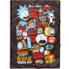 Složka s 3 klopy Rick and Morty: Wubba Lubba (26 x 34 x 2 cm)