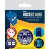 Placky Dr.Who: Exterminate set 5 kusů 25 mm 38 mm