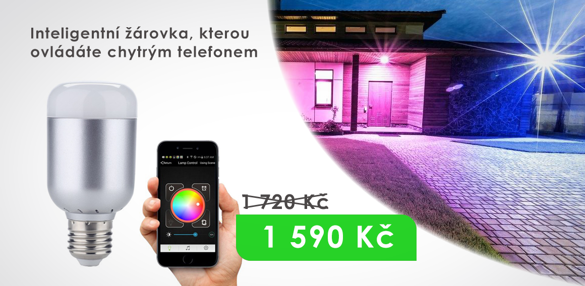 Chytrá LED žárovka Smart Bluetooth RGB