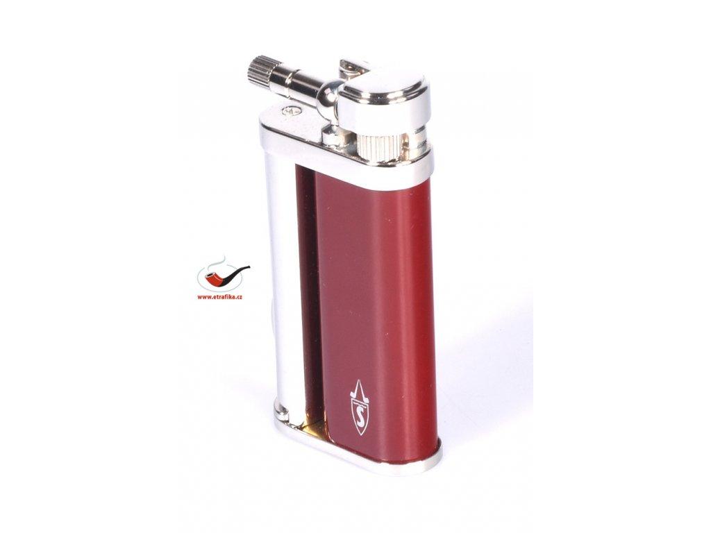12299 4 pfeifenfeuerzeug savinelli lighter color laquered a66 red