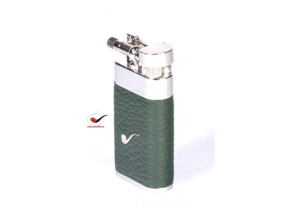 12305 4 pfeifenfeuerzeug savinelli lighter color leather a65 green