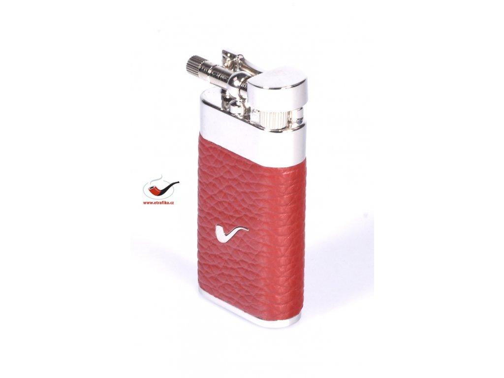 12308 4 pfeifenfeuerzeug savinelli lighter color leather a65 red