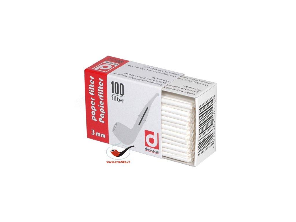 11744 pfeifenfilter papier denicotea 3 mm 100