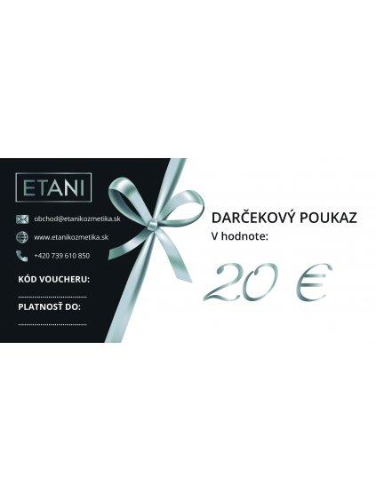Darkovy poukaz etani 20