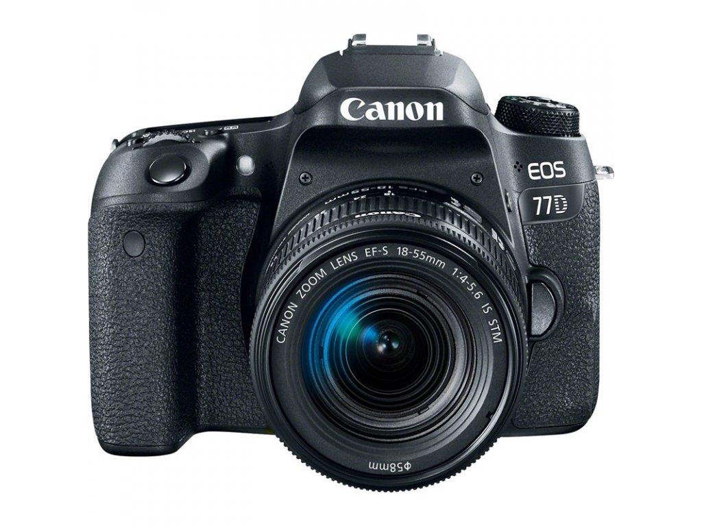 Zrcadlovka Canon EOS 77D + 18-55 IS STM