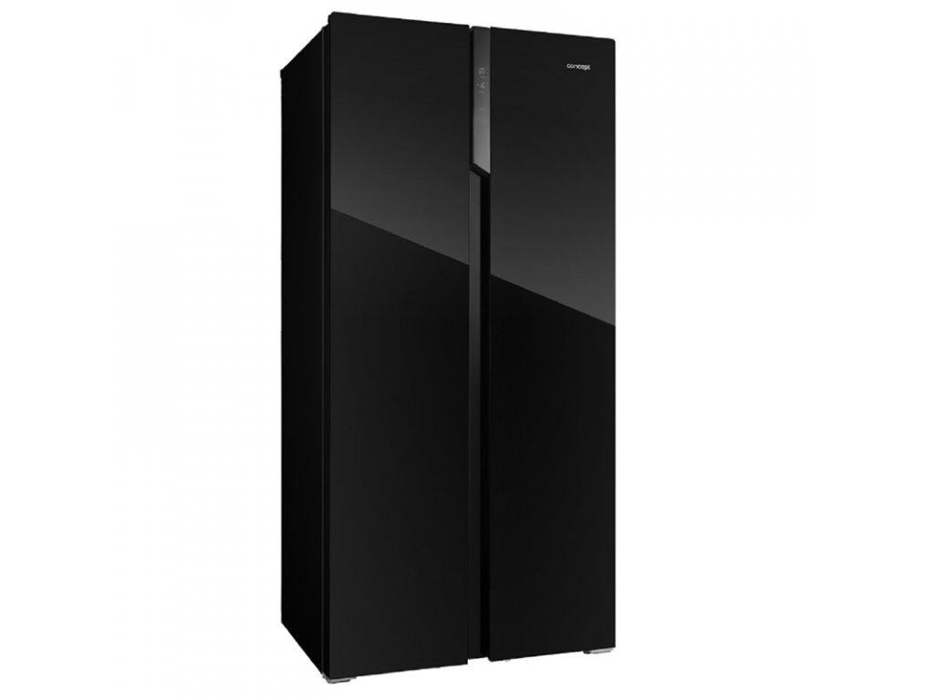 Chladnička amer. Concept LA7383bc, černá, NoFrost  + CASHBACK - 1200,- Kč