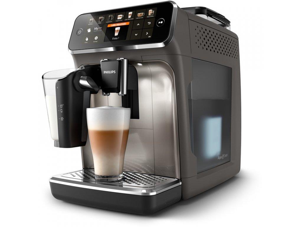 Espresso Philips EP5444/90 Series 5400 LatteGo - barva šedá  + termoskleničky na espresso + 1 kg kvalitní kávy ZDARMA
