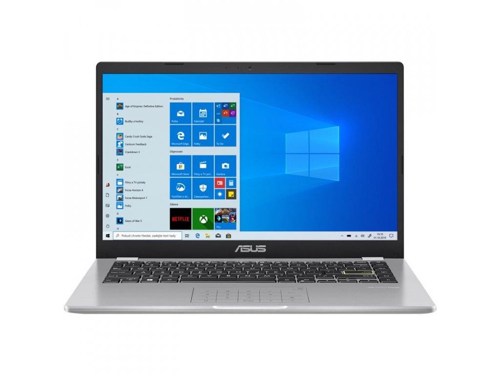"Ntb Asus (A410MA-EK219TS) stříbrný + MS Office 365 pro jednotlivce Celeron N4020, 4GB, 64GB, 14"", Full HD, bez mechaniky, Intel UHD 600, BT, CAM, W10 S"
