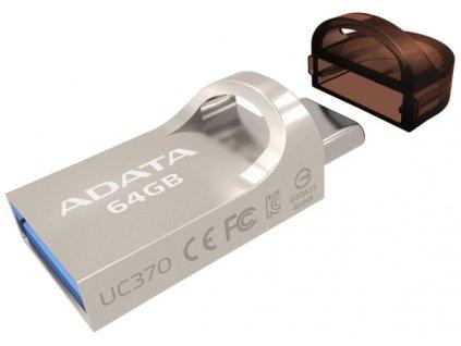 Flash USB ADATA UC370 64GB OTG USB-C/USB 3.1 - zlatý