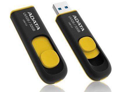 Flash USB ADATA UV128 32GB USB 3.0 - černý/žlutý