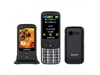 Mobilní telefon Aligator VS 900 Senior Dual SIM - černý/stříbrný