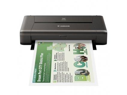Tiskárna inkoustová Canon PIXMA iP110 + baterie A4, 9str./min, 5str./min, 9600 x 2400, WF, USB