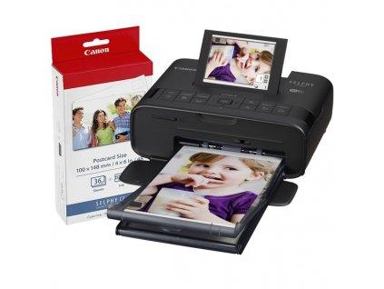 Fototiskárna Canon CP1300 Selphy + papíry KP-36, černá