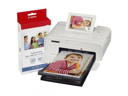 Fototiskárna Canon CP1300 Selphy + papíry KP-36, bílá
