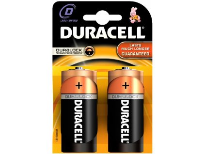 Baterie alkalická Duracell Basic D, LR20, blistr 2ks