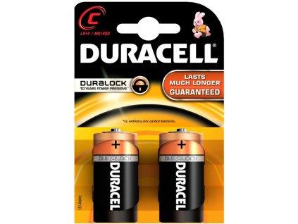 Baterie alkalická Duracell Basic C, LR14, blistr 2ks