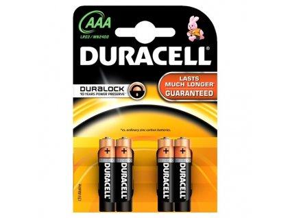 Baterie alkalická Duracell Basic AAA, LR03, blistr 4ks