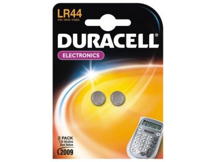 Baterie alkalická Duracell LR44, blistr 2ks