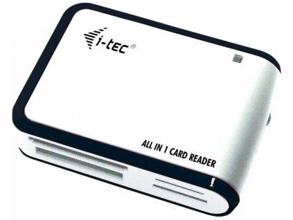Čtečka paměťových karet i-tec All in One USB 2.0 - bílá