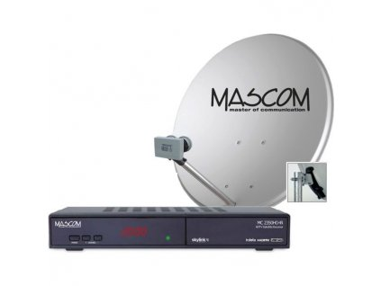 Satelitní komplet Mascom MC2350/80MBL, příjem 2 družic